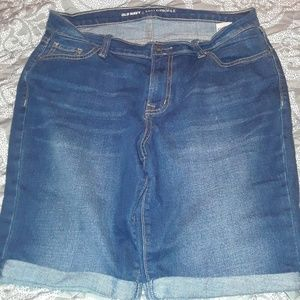 Old Navy stone washed shorts